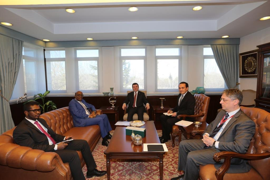 His Excellency Ambassador met the deputy minister of foreign affairs of Turkey