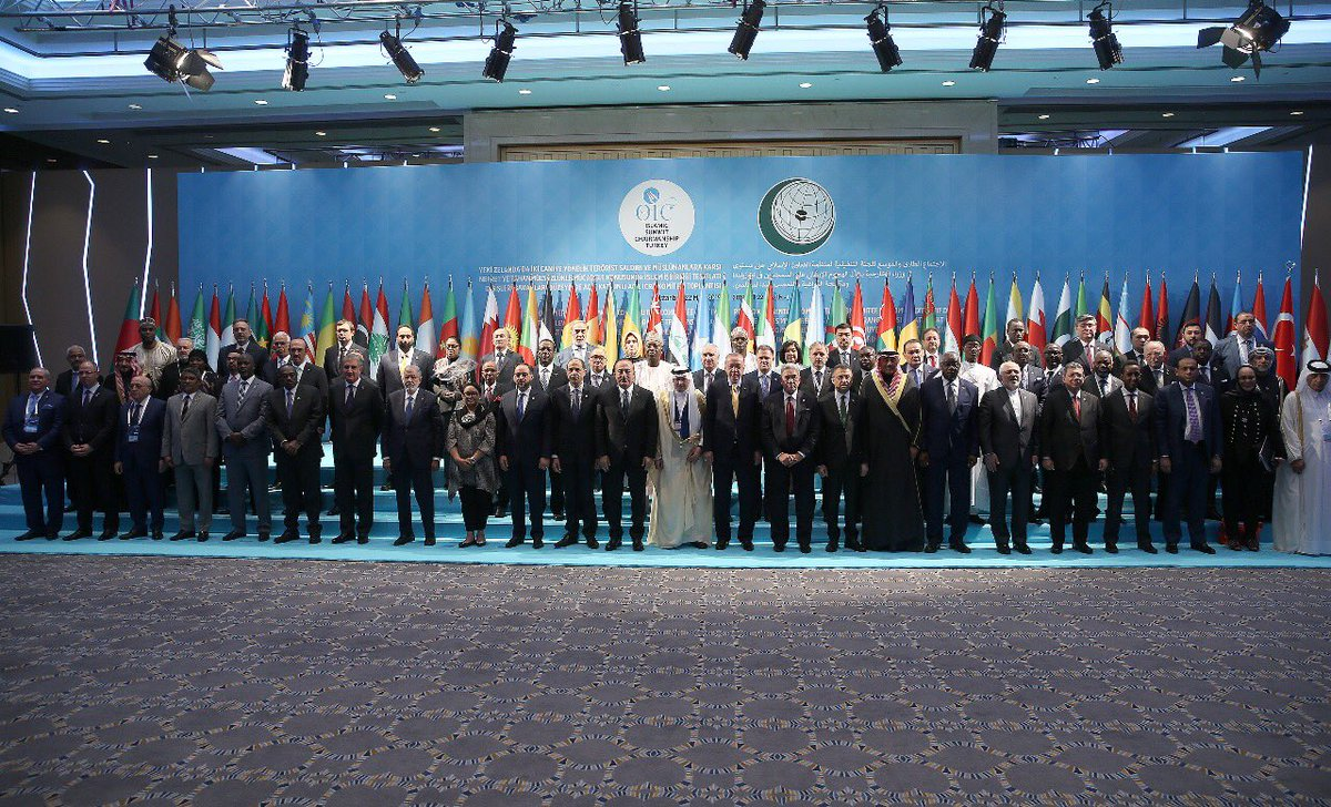 Meeting of the Organisation of Islamic Cooperation (OIC) in Istanbul, Turkey, March 22, 2019.